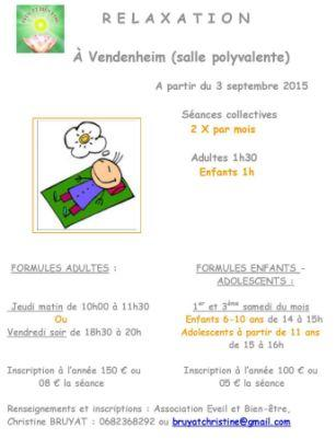 RELAXATION : Formules-horaires